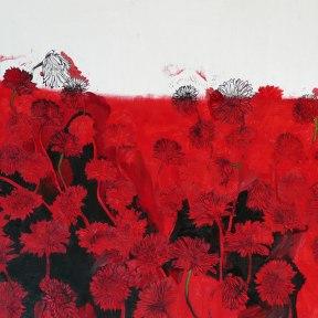 Floraison. Huile et gravure. 2014