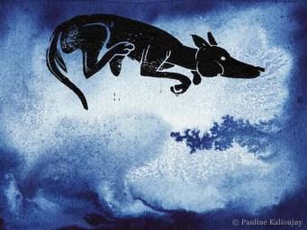 Lupus nage dans le grand Bleu, frais et liquide...