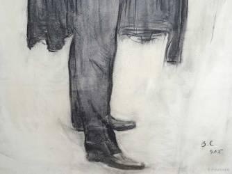 Portrait de Chaliapine, Serov, détail.