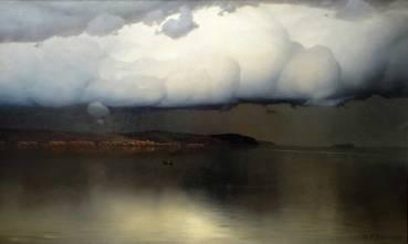"""""""Silencieux"""", peinture de Doubovskoï. Le calme avant l'orage..."""