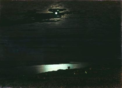 Kouinji. Paysage sous la lune.