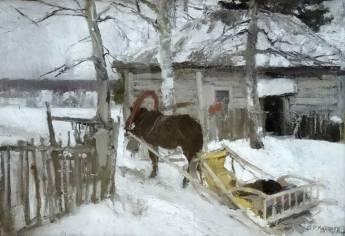 Korovin, peinture du mois de Mars. Pour qui connaît l'hiver russe, c'est tout à fait cela.