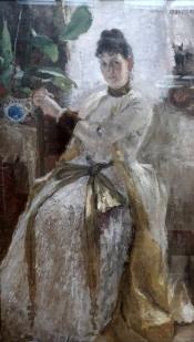 Un portrait de femme par Korovin.