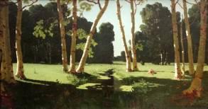 """""""Bosquet de bouleaux. Le prodigieux génie de Kouindji, un peintre à l'oeuvre singulière, méconnue en occident. D'origine grecque, Arkhip Kouindji est né en Ukraine, dans une famille pauvre. Il possède un art de la synthèse des formes et des compositions très particulier. Les couleurs sont extrêmement pures et vives, les contrastes intenses, et c'est très difficile à photographier! Il fut, entre autres, le professeur du peintre Nicolas Roerich, à Académie impériale des beaux-arts de Saint-Pétersbourg."""