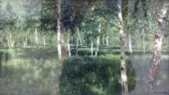 """La fraîcheur d'un """"bosquet de bouleaux"""", par Levitan."""