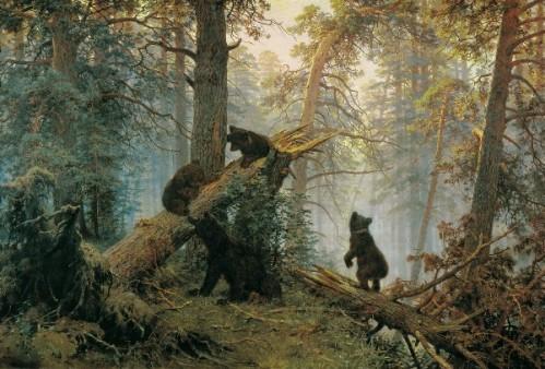 """""""Les oursons"""", Chichkine. Un tableau célébrissime !"""