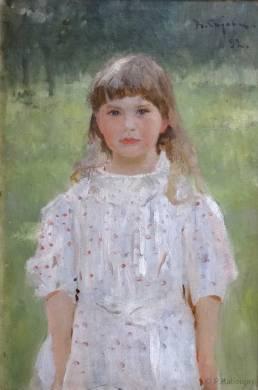 Un portrait de petite fille par Serov.