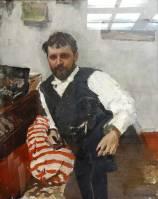 Portrait d'homme par Serov.