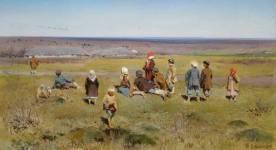 """""""Les grues volent"""". Stepanov. 1891."""
