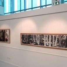 """Mur """"Promenons-nous dans les bois"""" Exposition """"Esprits des bois"""" © P.KALIOUJNY - 2016 – à Troyes."""