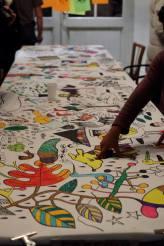La fresque participative Crédit photo : Myriam Drosne – à La Rotonde Stalingrad.