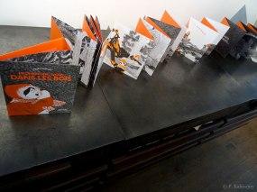 """L'album """"Promenons-nous, dans les bois"""", se transforme aussi en livre-objet. Texte et illustrations : P. Kalioujny. Éditions Thierry Magnier (25 oct. 2017)."""