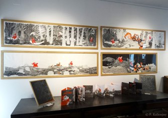 """Les originaux de """"Promenons-nous, dans les bois"""" sont à louer pour vos expositions en médiathèque ou galerie !"""